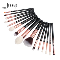 Jessup Brand Rose Gold Black Professional Makeup Brushes Set Make Up Brush Tools Kit Foundation Powder