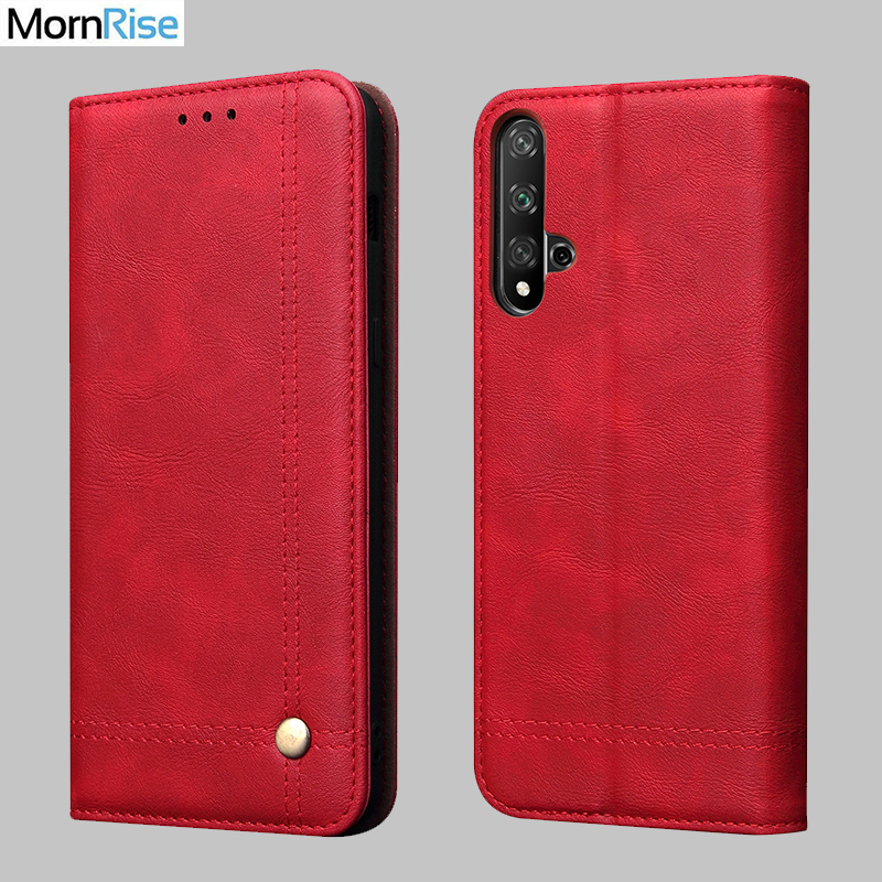 Vintage Leather Flip Cover For Huawei Honor 20 20 Pro / 20 Lite Wallet Luxury Card Stand Magnet Book Cover Phone Case Fundas