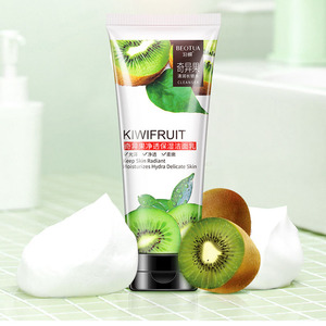 Image 3 - Natural Cherry Kiwifruit/Fresh orange/Rice Facial Cleanser Hydrating Whitening Shrink Pores Acne Treatment Oil Control Cleanser