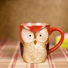 500ml  New Creative Ceramic coffee mug Animal model bean cup