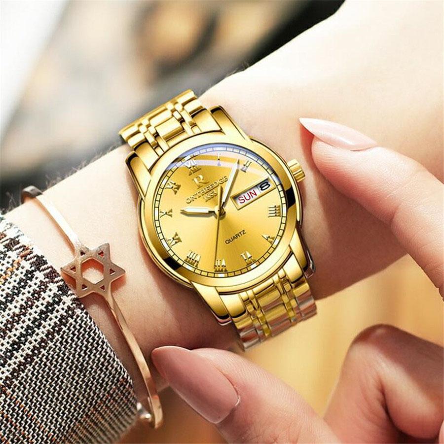 2019 Women's Men Watches Top Brand Luxury Analog Quartz Watch Men's Ladies Sport Gold Clock Relogio Masculino Waterproof 30M