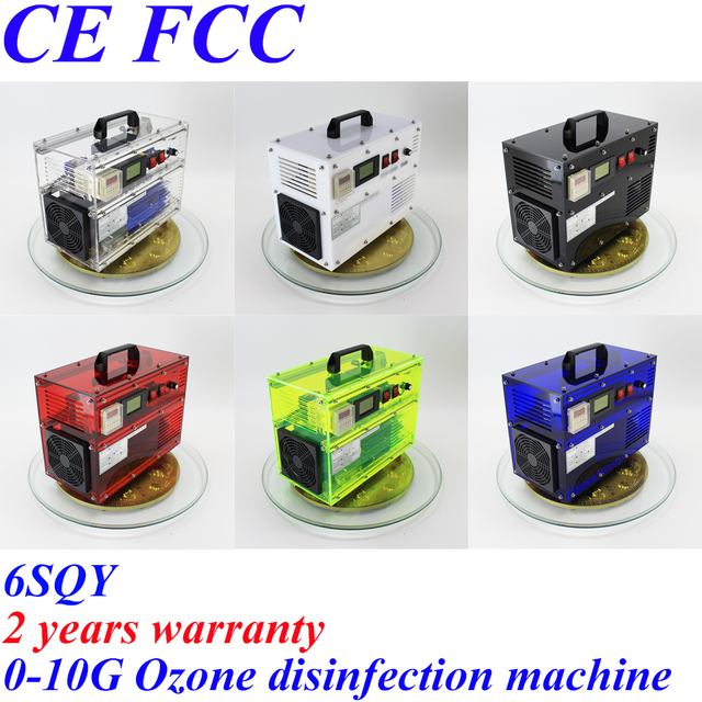 CE EMC LVD FCC Factory outlet 5SQY 6SQY 0-10g/h 500mg 1 3 5 7 10gram adjustable ozone air water machine disinfection