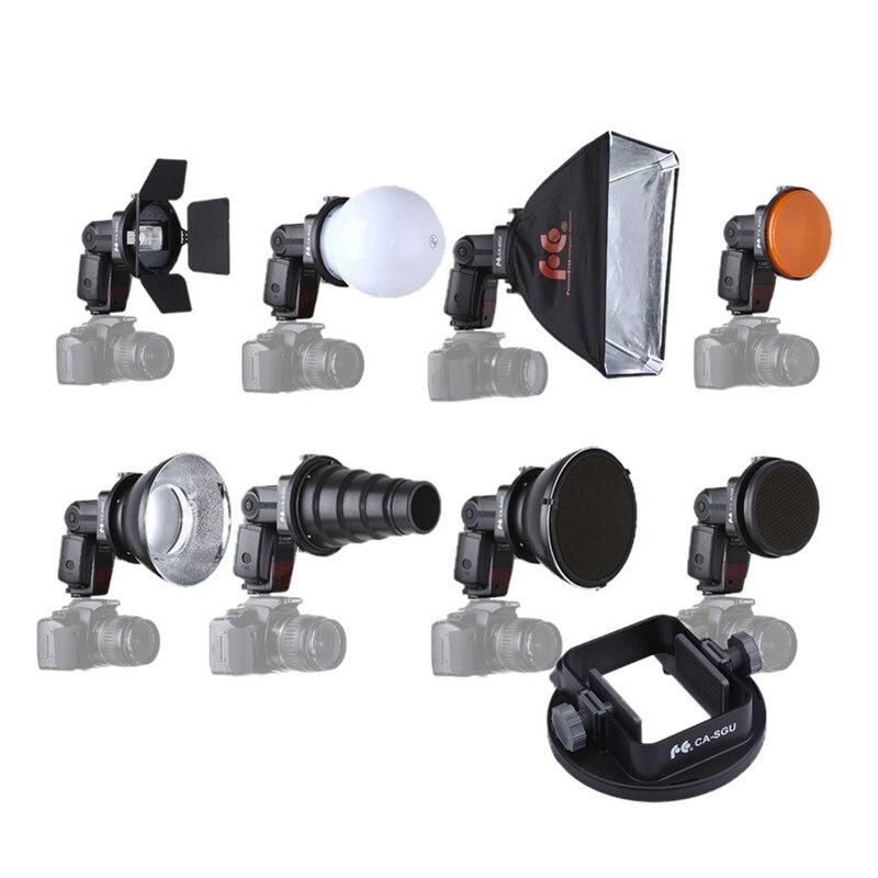 FALCON EYES Softbox Flash Diffuser Adapter Kit Accessory for K9//K-9 Universal Mount CA-SGU Speedlite for Canon Nikon
