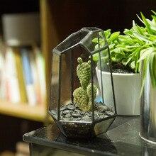 10.5*9*15cm Irregular Glass Geometric Terrarium Box Tabletop Succulent Plant Planter Flower Pot Glass Decoration Vase Great Gift