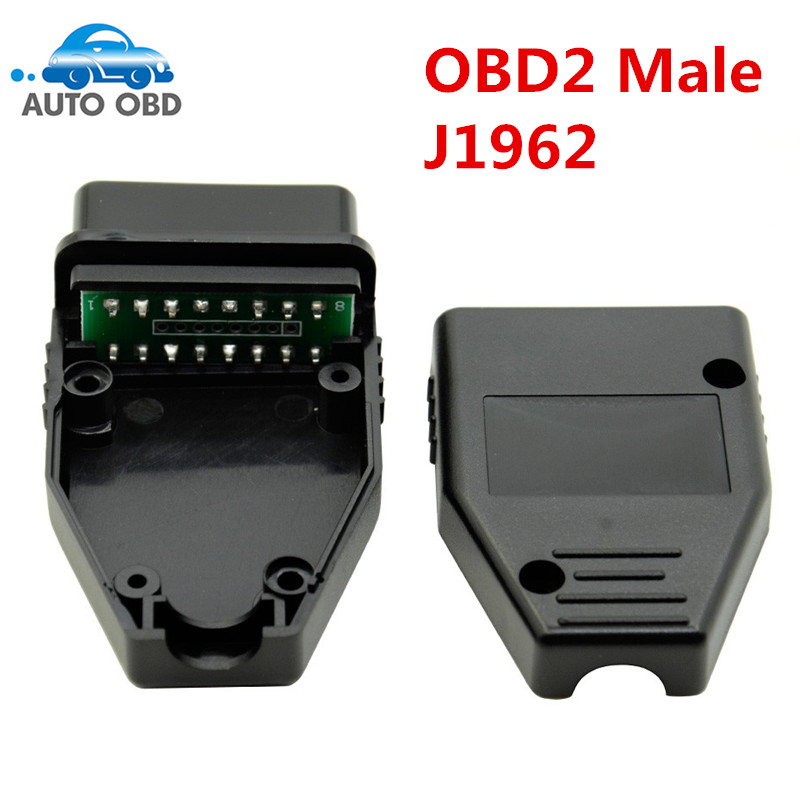 J1962 Male Plug OBD2 16Pin Connector OBD II Adaptor OBDII Connector