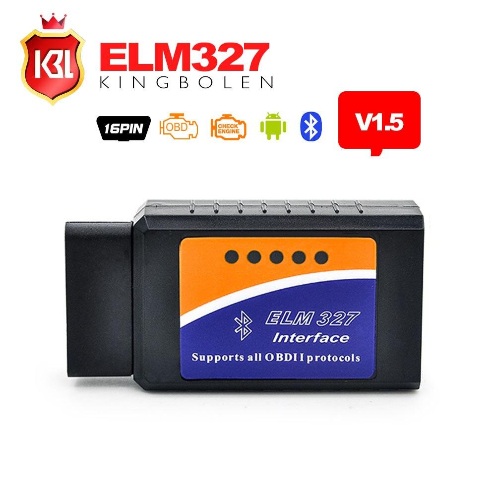 Prix pour Haute Qualité V1.5 Firmware ELM327 Bluetooth pour Android Couple OBD2 Diagnostic T ELM 327 Bluetooth avec PIC18F25K80 Bateau Libre