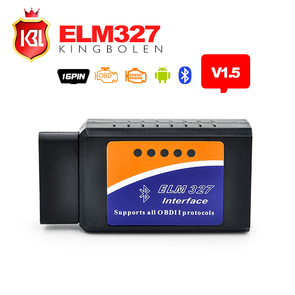 High Quality PIC18F25K80 V1.5 Firmware ELM327 Bluetooth for Android Torque OBD2 Diagnostic-tool ELM 327 Bluetooth Scan Tool