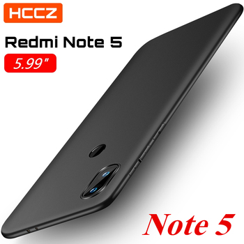HCCZ Redmi Note 5 Matte Pure Color Soft Silicone Case for Xiaomi Redmi Note 5 Global version Protective Case Cover High Quality image