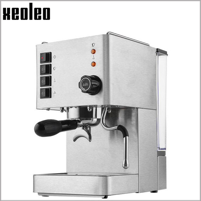 Xeoleo 15 Bar Coffee Maker Stainless Steel Hoursehold Machine 1350w Espresso Full Automatic