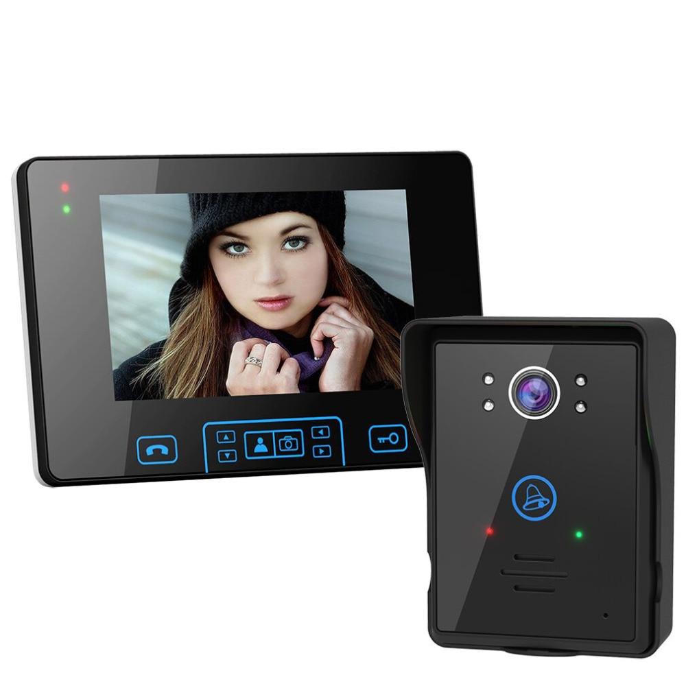 7 pollice wireless Video Telefono Del Portello Citofono lcd Digitale Campanello del telefono del portello della macchina fotografica Impermeabile Senza Fili Video Citofono Campanello
