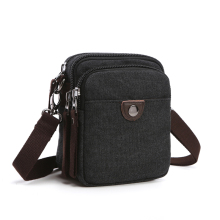 Vintage Menn Waist Bag Liten Handy Male Pouch Belt Purse Bag Telefon Bum Waist Pack Mini Menn Skuldertasker Canvas Fanny Pocket