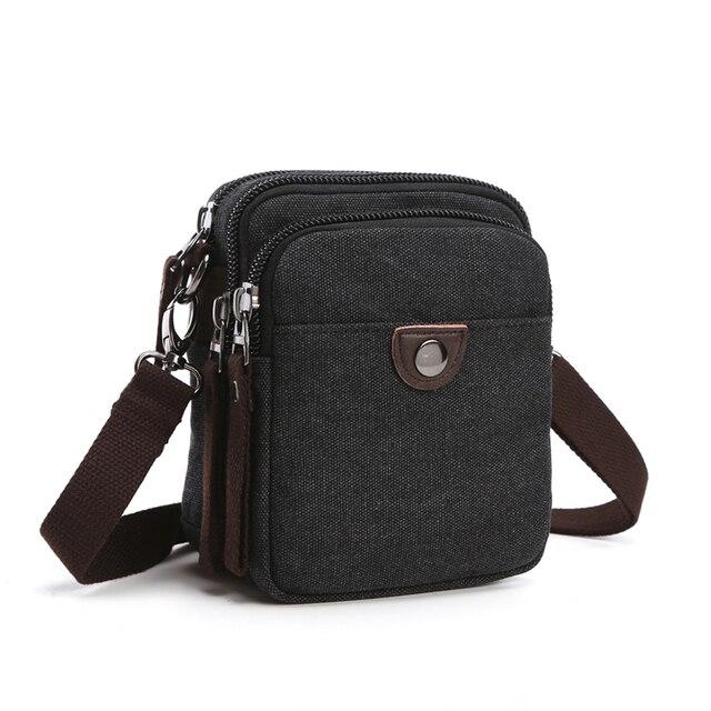 Vintage Men Waist Bag Small Handy Male Pouch Belt Purse Bag Phone Bum Waist Pack Mini Men Shoulder Bags Canvas Fanny Pocket