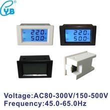 Voltímetro Hertz/medidor de HZ, Monitor de voltaje CA 150-500V, pantalla Dual LCD, contador de frecuencia de voltaje, envío gratis
