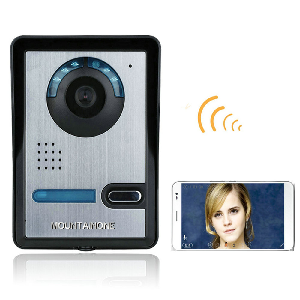 MOUNTAINONE Wireless WIFI Video Door Phone Doorbel Intercom System Night Vision Waterproof Camera With Rain Cover HD 720P
