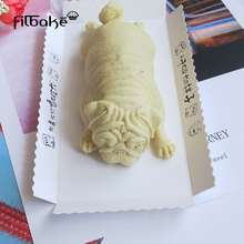 FILBAKE Cute Dog Silicone Mold Mousse Cake 3D Shar Pei Mould Ice Cream Pudding Blast Chilling Fondant Decoration Tools