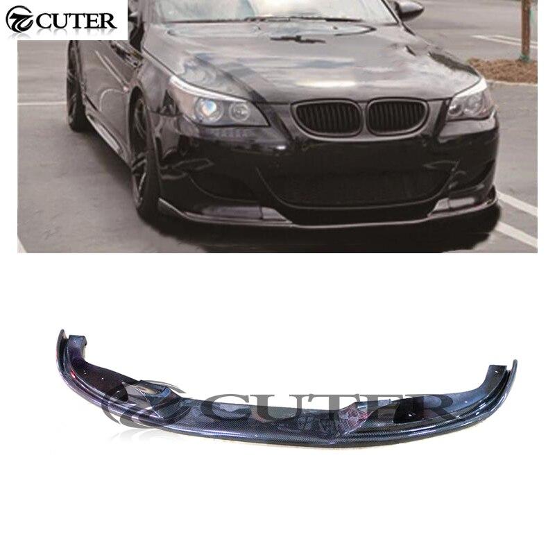 E60 M5 fibre de Carbone Avant Lip Pare-chocs Splitter Diffuseur style de voiture pour BMW 5 Série E60 M5 520i 525i 530i 535i 2003-2009