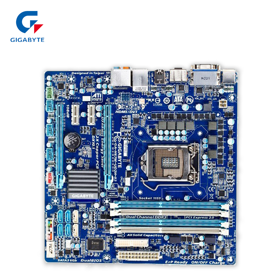 Gigabyte GA-PH67A-D3-B3 Original Used Desktop Motherboard PH67A-D3-B3 H67 LGA 1155 i3 i5 i7 DDR3 32G ATX ga p61 s3 p61 desktop motherboard large panel p61 s3 a 1155 ddr3 100% tested perfect quality