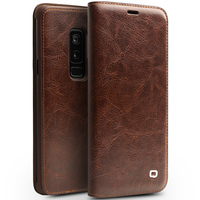 QIALINO Genuine Leather Phone Case For Samsung Galaxy S9 Bag Card Slot Ultra Thin Flip Cover