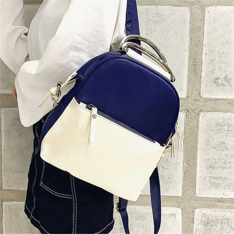 Miyahouse Fashion Panelled Color Woman Backpack High Quality Pu Leather Lady Rucksack Casual Travel Bag For Teenage Girls #1