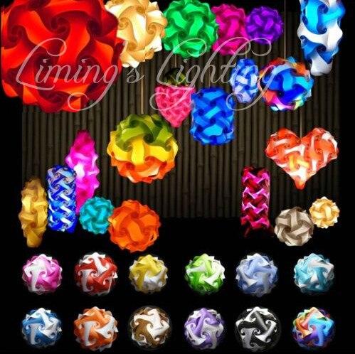 10 Set 300 Pièces 250 Mm Moderne Bricolage éléments Iq Puzzle Ze Lampe Ombre Plafond Pendentif Led Lampe Boule Lumière éclairage 110-240 V