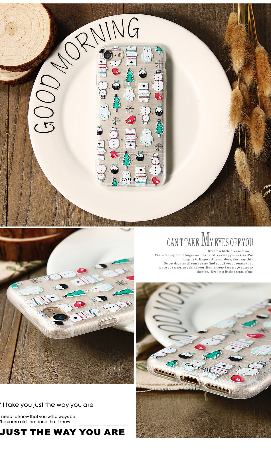 HTB1BiJFOpXXXXcwaFXXq6xXFXXXn - Christmas Phone Case For iPhone 7 6 6S Plus iPhone 5S SE 5 Cases For Samsung Galaxy S6 S7 Edge Cute Cover Accessories PTC 286