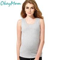 Euro America Casual Maternity Nursing T Shirt Summer Cotton Breastfeeding Tank Top For Pregnant Pregnancy Nurse Wear Clothing