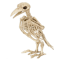 Halloween Crazy Bone Skeleton Raven Plastic Animal Skeleton Bones Horror Halloween Prop Bird Crow Skeleton Decoration