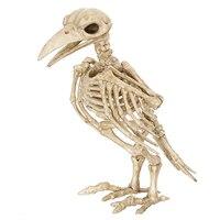 ハロウィンクレイジー骨スケルトンravenプラスチック動物スケルトン骨ホラーハロウィンプロップ鳥カラススケルトン装