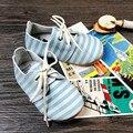 Zapatos de Bebé de Cuero genuino con cordones Del Niño Del Bebé mocasines de colores Mezclados Niños zapatos Primeros Caminante Envío gratis