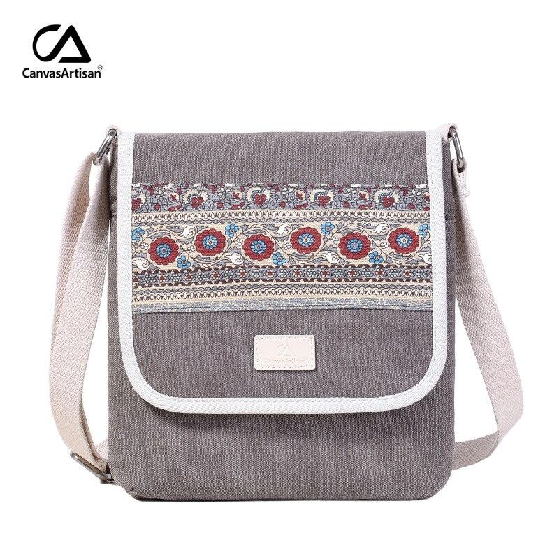 Messenger Bag Canvas Retro Leisure Shoulder Bag Travel National Daily Small Crossbody Bags Girls Handbags Bolso