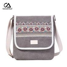 New Women Messenger Bag Canvas Retro Leisure Shoulder Travel National Female Daily Small Crossbody Bags Girls Handbags Bolso