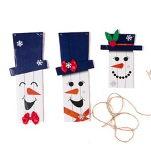 3pcs Cute Christmas Trees Party Decorations for Home Winter Snowman Door Hangers Banner Fall Signs Porch