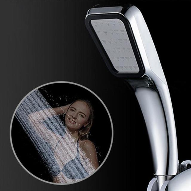 Ad alta Pressione Palmare Doccia Testa Chrome-Pannello Piatto Streamline Water S