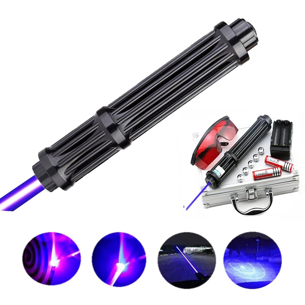 Qualité supérieure Rallongent Puissant Pointeurs laser bleu 450nm Lazer Vue lampe de Poche Brûler Jeu/lumière Brûlant cigares/bougie