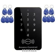 New RFID Proximity Entry Door Lock Access Control Door Opener System Keypad Password Keyfobs Unlock + 10 RFID Tags Wholesale
