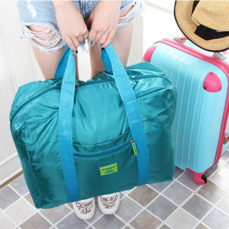 Waterproof Large Capacity Folding Travel Trolley Bags Nylon Unisex Luggage Organizers Casual Travel Accessaries