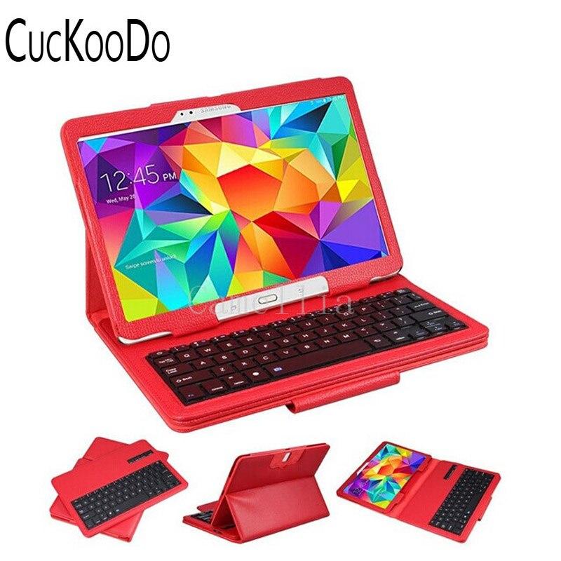 CucKooDo 10Pcs/lot For Samsung Galaxy Tab S 10.5 SM-T800 - DETACHABLE Bluetooth Wireless Keyboard Stand Thin High Quality Case аксессуар чехол samsung galaxy tab a 7 sm t285 sm t280 it baggage мультистенд black itssgta74 1