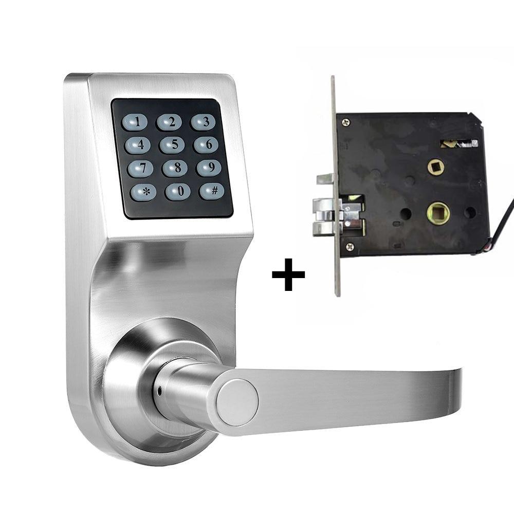 Smart Digital Keyless Electronic Code Door Lock RFID Entry Secure Handle Intelligent Double Lock Tongue  sc 1 st  AliExpress.com & homgeek New Right/Left Handle Intelligent Electronic Anti theft Lock ...