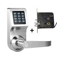 Smart Digital Keyless электронного кодового замка RFID Вступление Secure ручка интеллектуальная двойной замок язык