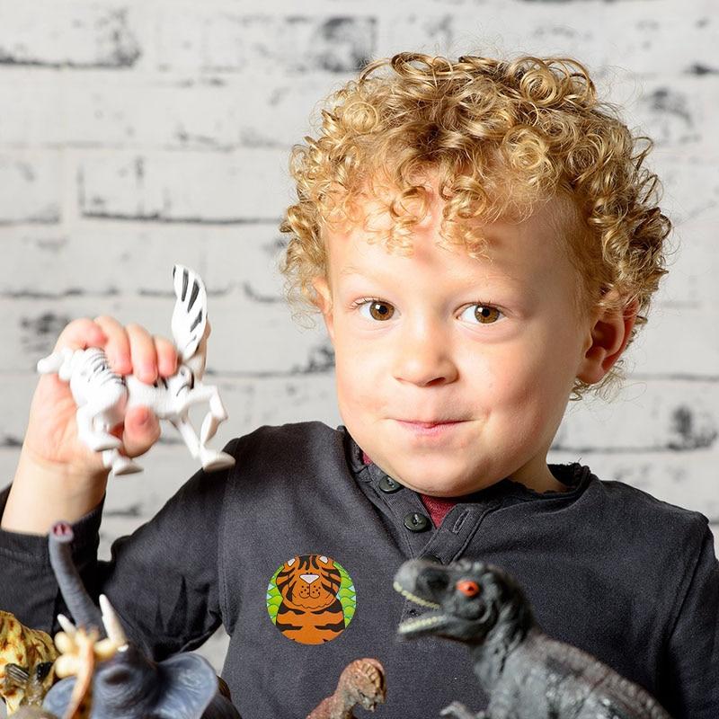 Купить с кэшбэком Animals reward Stickers 500 Labels per roll cute sticker for seal labels Adhesive sticker scrapbooking children decoration party