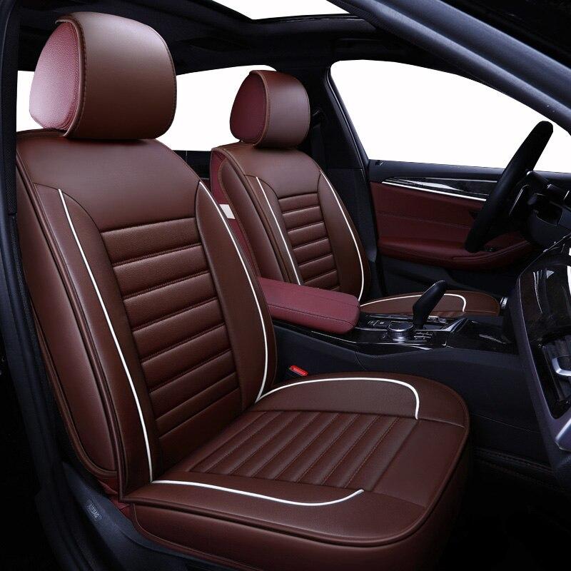 (vorne + Hinten) Universal Leder Auto Sitz Abdeckung Für Toyota Corolla Chr Rav4 Yaris Avalon Avensis Reiz Fortuner 4 Runner Land Cruiser
