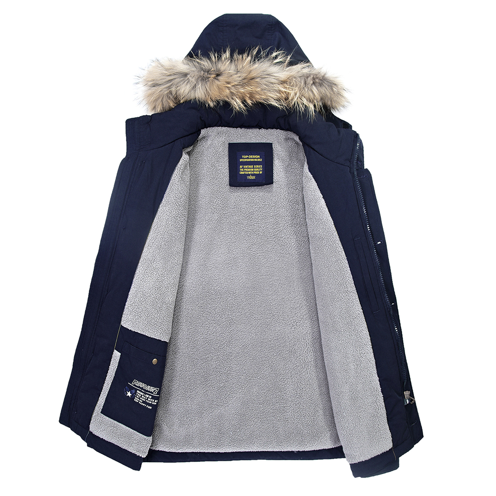 Parka jacket mens grey