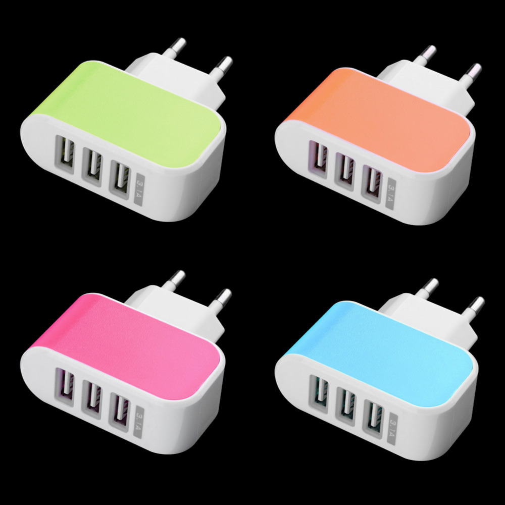 Triple USB Port Wall Home Travel AC Power Charger Adapter 3.1A EU Plug Quality Top Sale