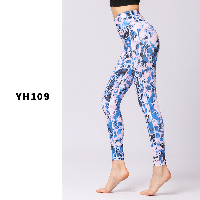 Leggings de Sport femmes pantalons de Yoga entraînement vêtements de Fitness Jogging pantalons de course collants de Gym extensible imprimé vêtements de Sport Yoga Leggins - 6