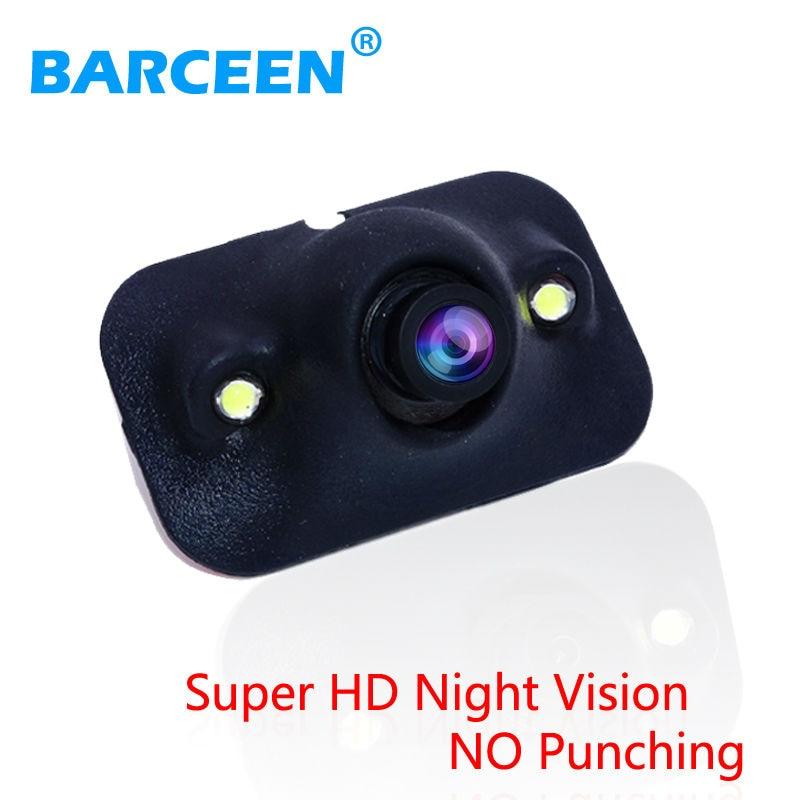 Promoción Mini CCD HD de visión nocturna Cámara de visión trasera del coche de 360 grados Cámara frontal Vista lateral posterior Cámara de marcha atrás Envío gratis