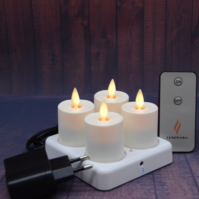 Flickering Amber Led Rechargeable Tea Light Tealight
