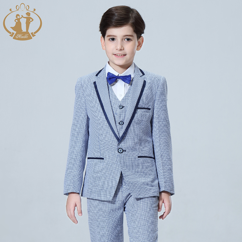 2019 3PCS Kids Plaid Wedding Blazer Suit for Christening Boy Dress Shirts Wedding Toddler Blazer Suit for Kids Boy Birthday2019 3PCS Kids Plaid Wedding Blazer Suit for Christening Boy Dress Shirts Wedding Toddler Blazer Suit for Kids Boy Birthday