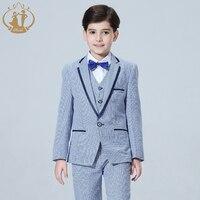 2019 3PCS Kids Plaid Wedding Blazer Suit for Christening Boy Dress Shirts Wedding Toddler Blazer Suit for Kids Boy Birthday