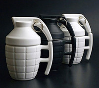 Creative Funny 3D Army Grenade Ceramic Mug Coffee Tea Water Mug Black And White Coffee Mug Gifts Drinkware mugs Personal