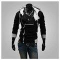 Outono Hoodies do Revestimento do Revestimento Dos Homens Casual Magro Cabido Camisola Tops Casaco Outwear-J117